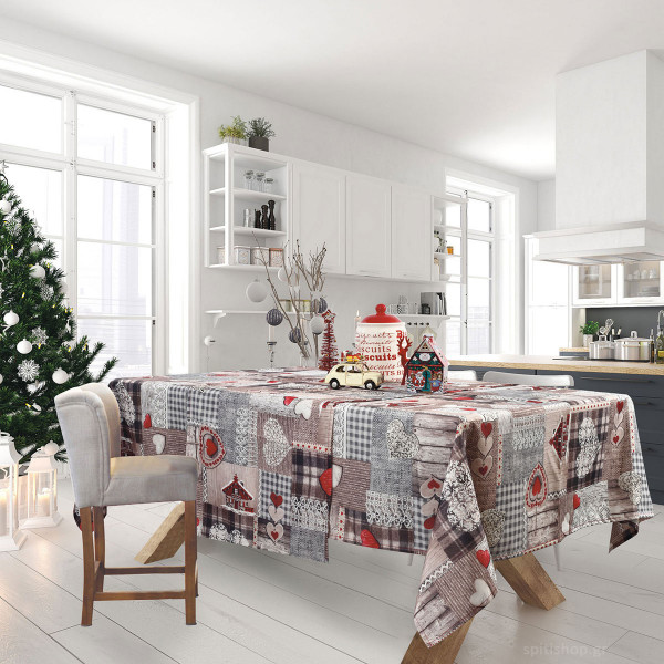 Χριστουγεννιάτικο Τραπεζομάντηλο (140x180) Das Home Xmas 0571