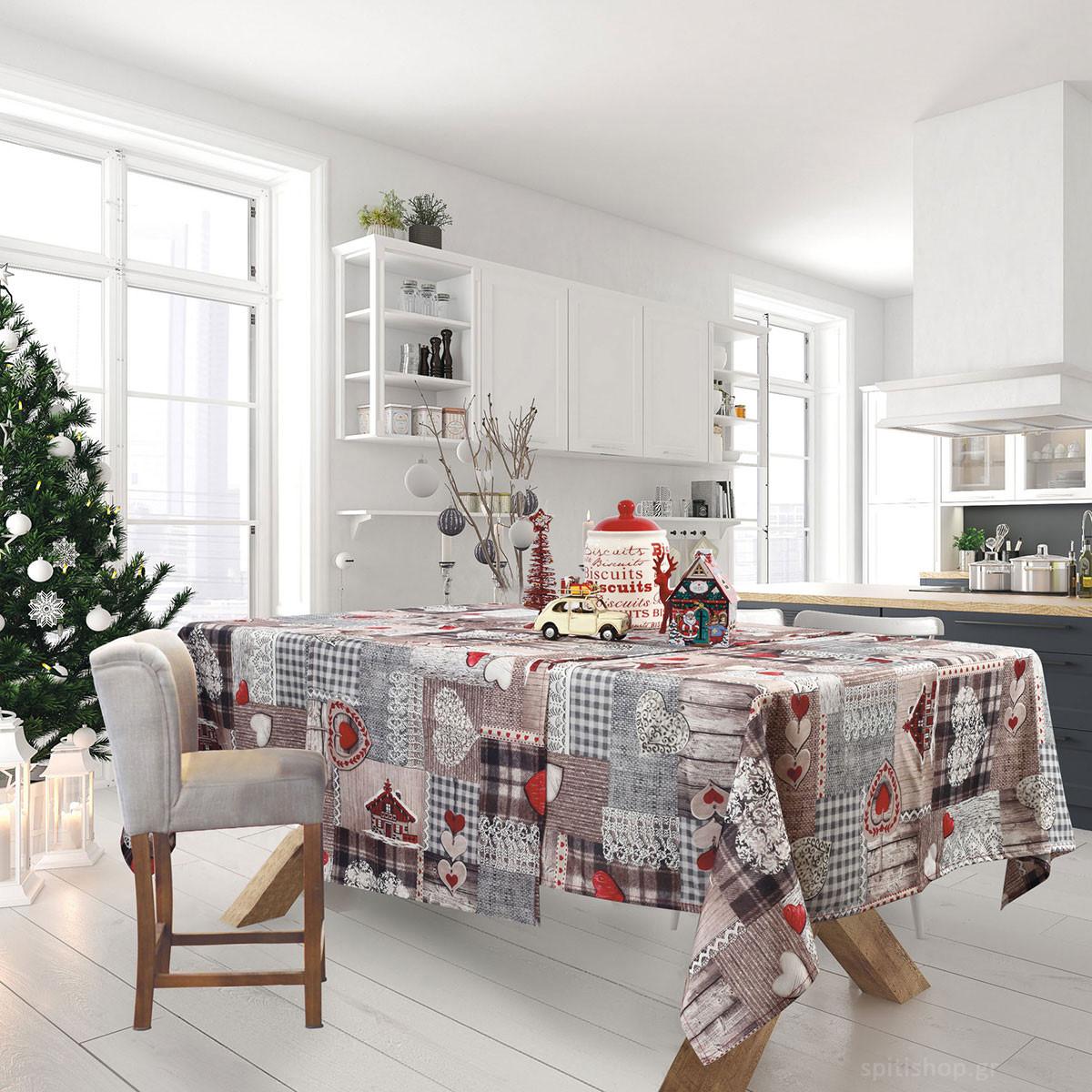 Χριστουγεννιάτικο Τραπεζομάντηλο (140×180) Das Home Xmas 571
