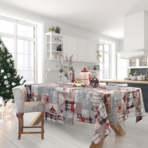 Χριστουγεννιάτικο Τραπεζομάντηλο (140x220) Das Home Xmas 0571