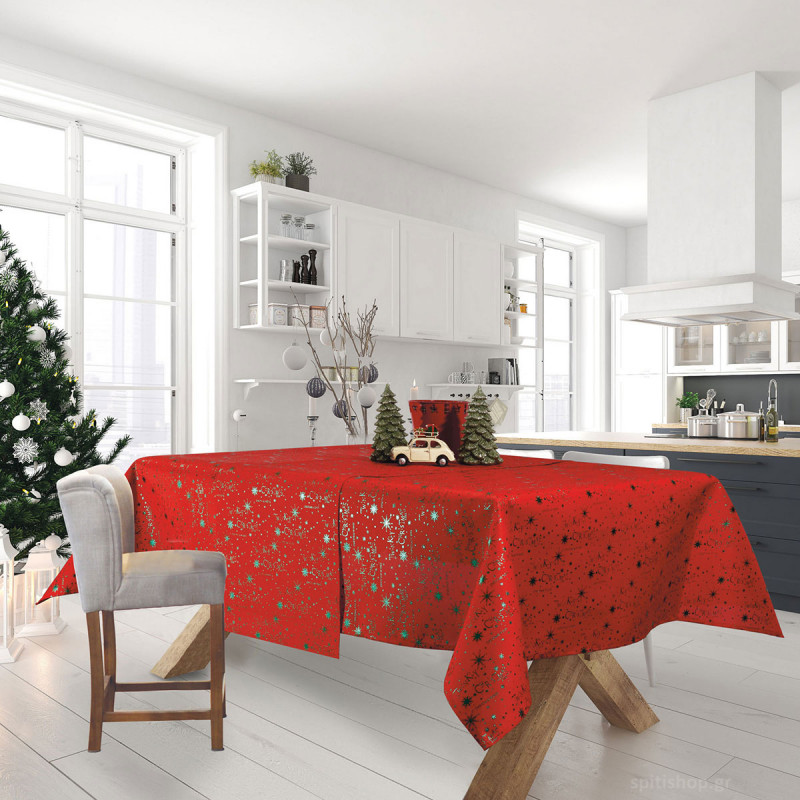 Χριστουγεννιάτικο Τραπεζομάντηλο (140x180) Das Home Xmas 0574