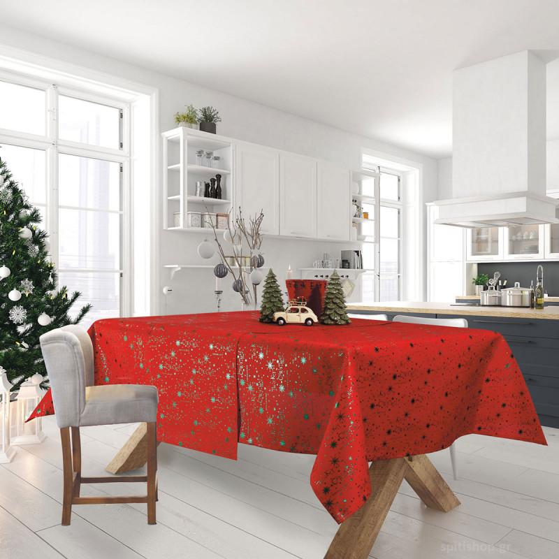 Χριστουγεννιάτικο Τραπεζομάντηλο (140x180) Das Home Xmas 574