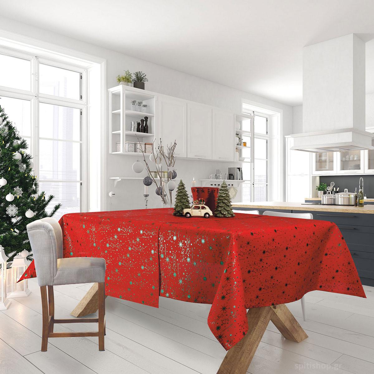 Χριστουγεννιάτικο Τραπεζομάντηλο (140×180) Das Home Xmas 0574