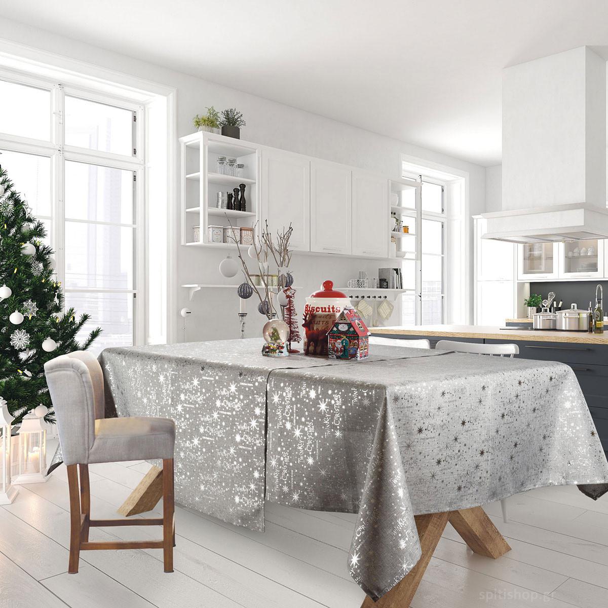 Χριστουγεννιάτικο Τραπεζομάντηλο (140×220) Das Home Xmas 573