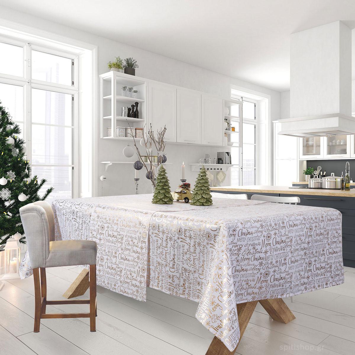 Χριστουγεννιάτικο Τραπεζομάντηλο (140×220) Das Home Xmas 575