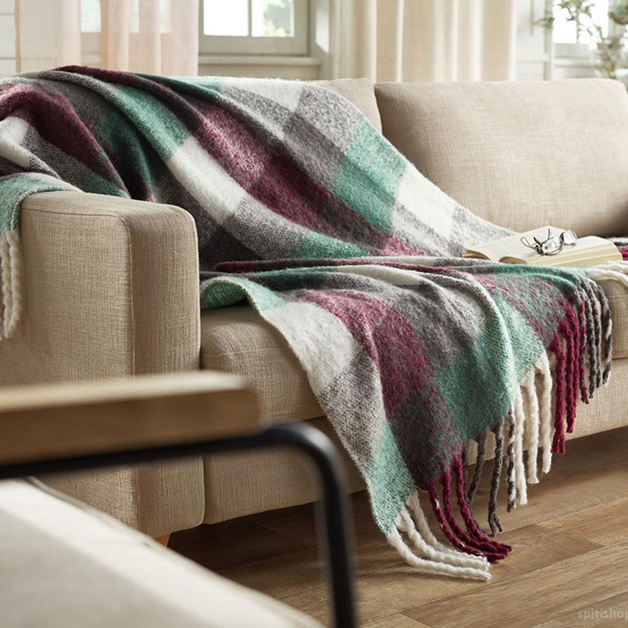 Κουβέρτα Καναπέ Gofis Home Huggy Bordo 771/02