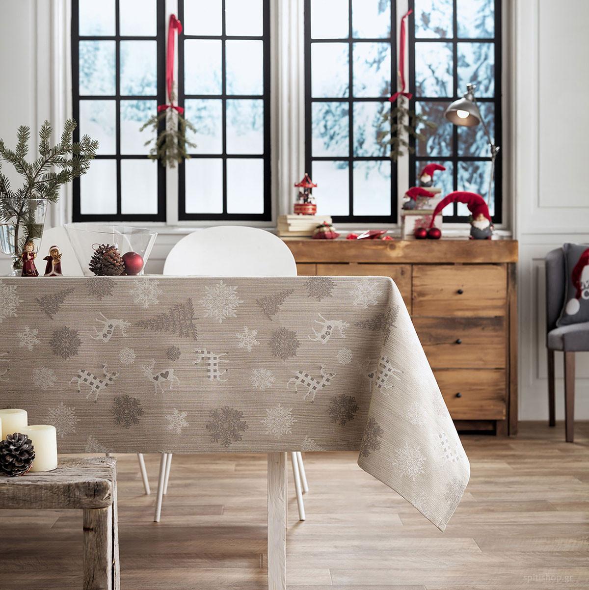 Χριστουγεννιάτικο Τραπεζομάντηλο (135×135) Gofis Home 285/04