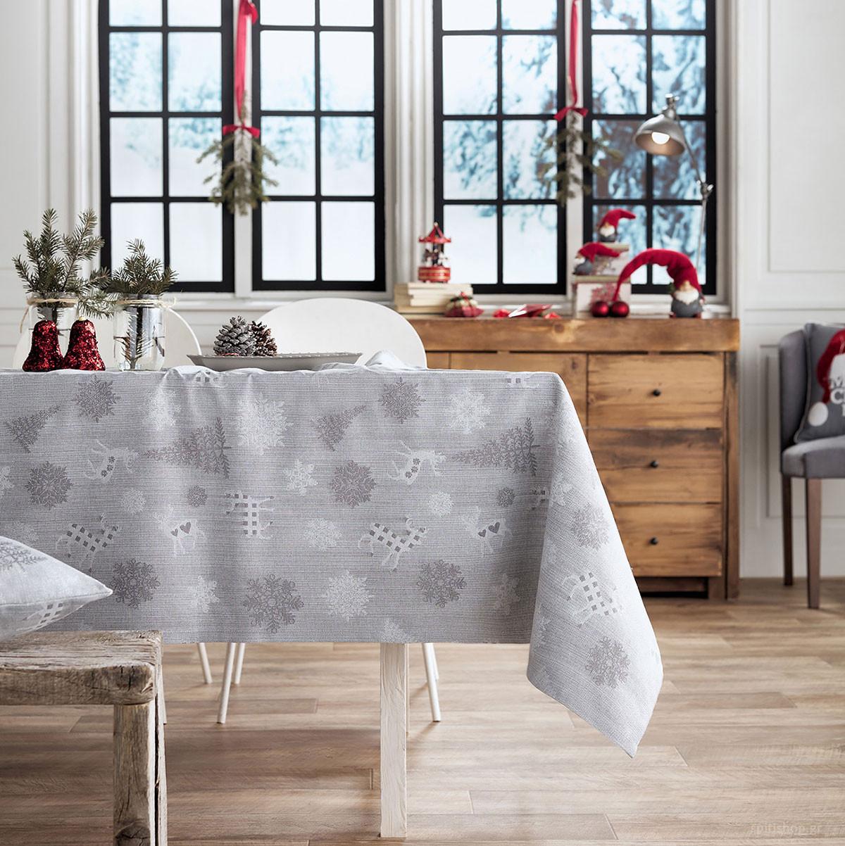 Χριστουγεννιάτικο Τραπεζομάντηλο (135×135) Gofis Home 285/15