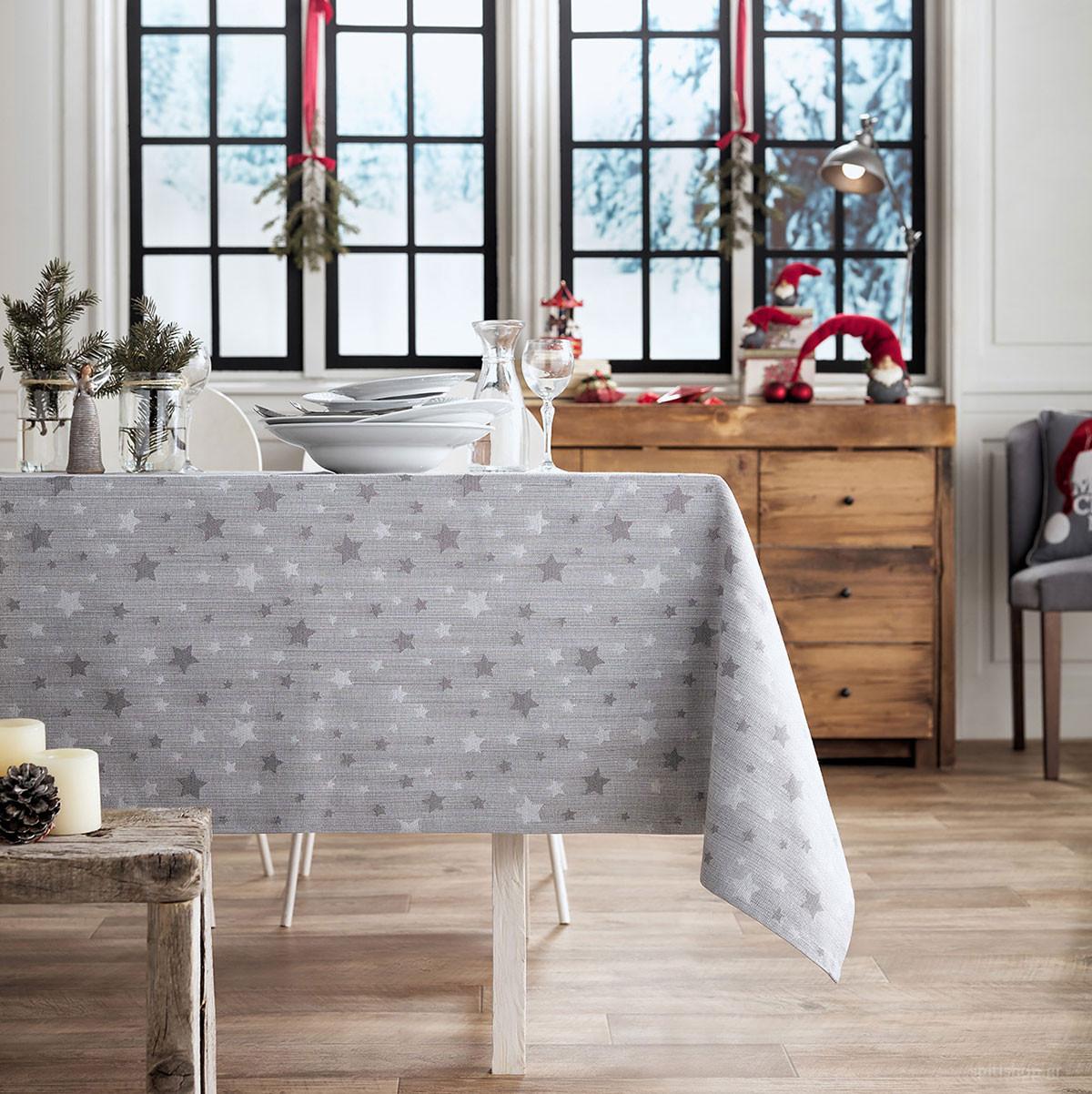 Χριστουγεννιάτικο Τραπεζομάντηλο (135×135) Gofis Home 901/15