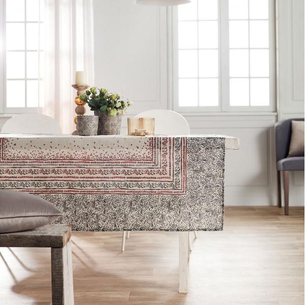 Τραπεζομάντηλο (135x180) Gofis Home Mosaic Bordo 357/02