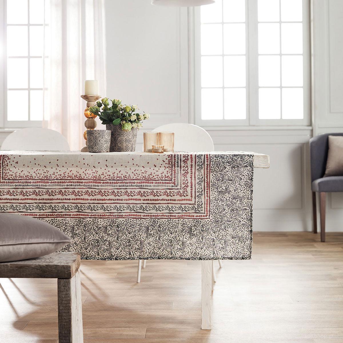 Τραπεζομάντηλο (145×220) Gofis Home Mosaic Bordo 357/02