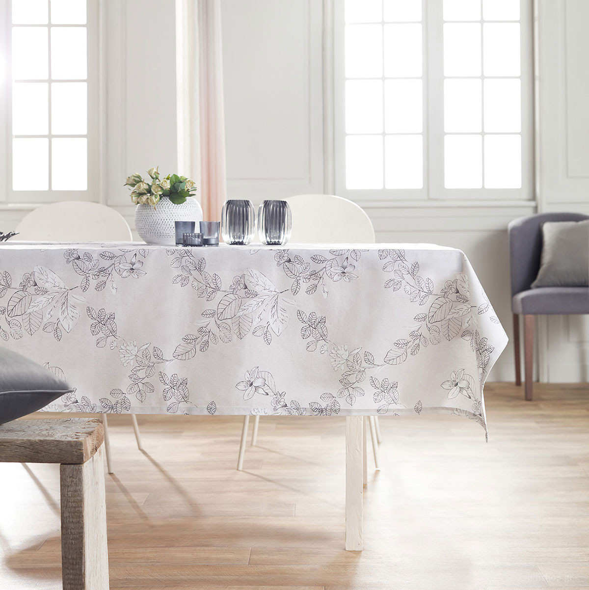 Τραπεζομάντηλο (150×220) Gofis Home White Blossom 737