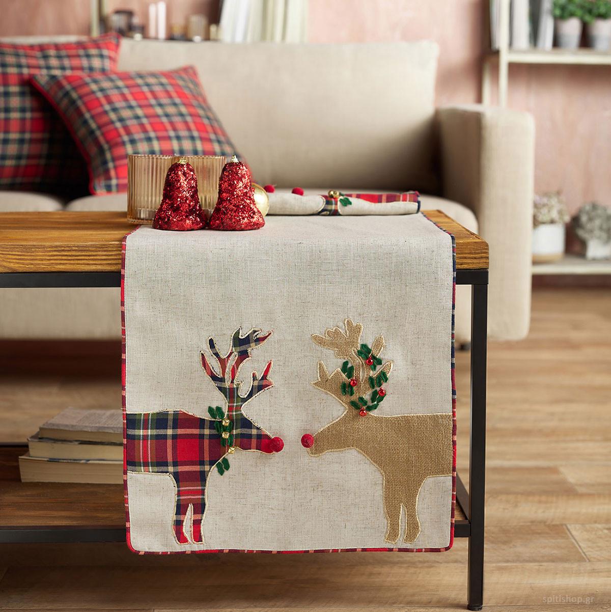 Χριστουγεννιάτικη Τραβέρσα (40×160) Gofis Home Xmas Kiss 644