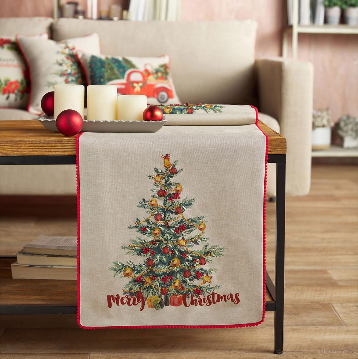 Χριστουγεννιάτικo Σεμέν (40×120) Gofis Home 953