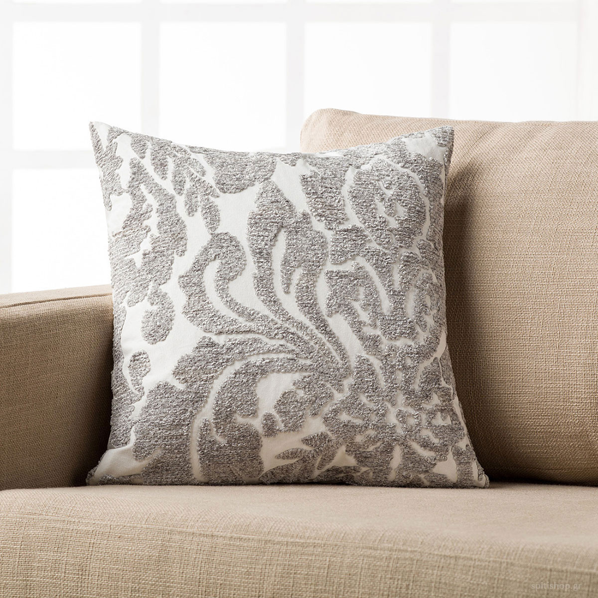 Διακοσμητική Μαξιλαροθήκη Gofis Home Palm Grey 621/15