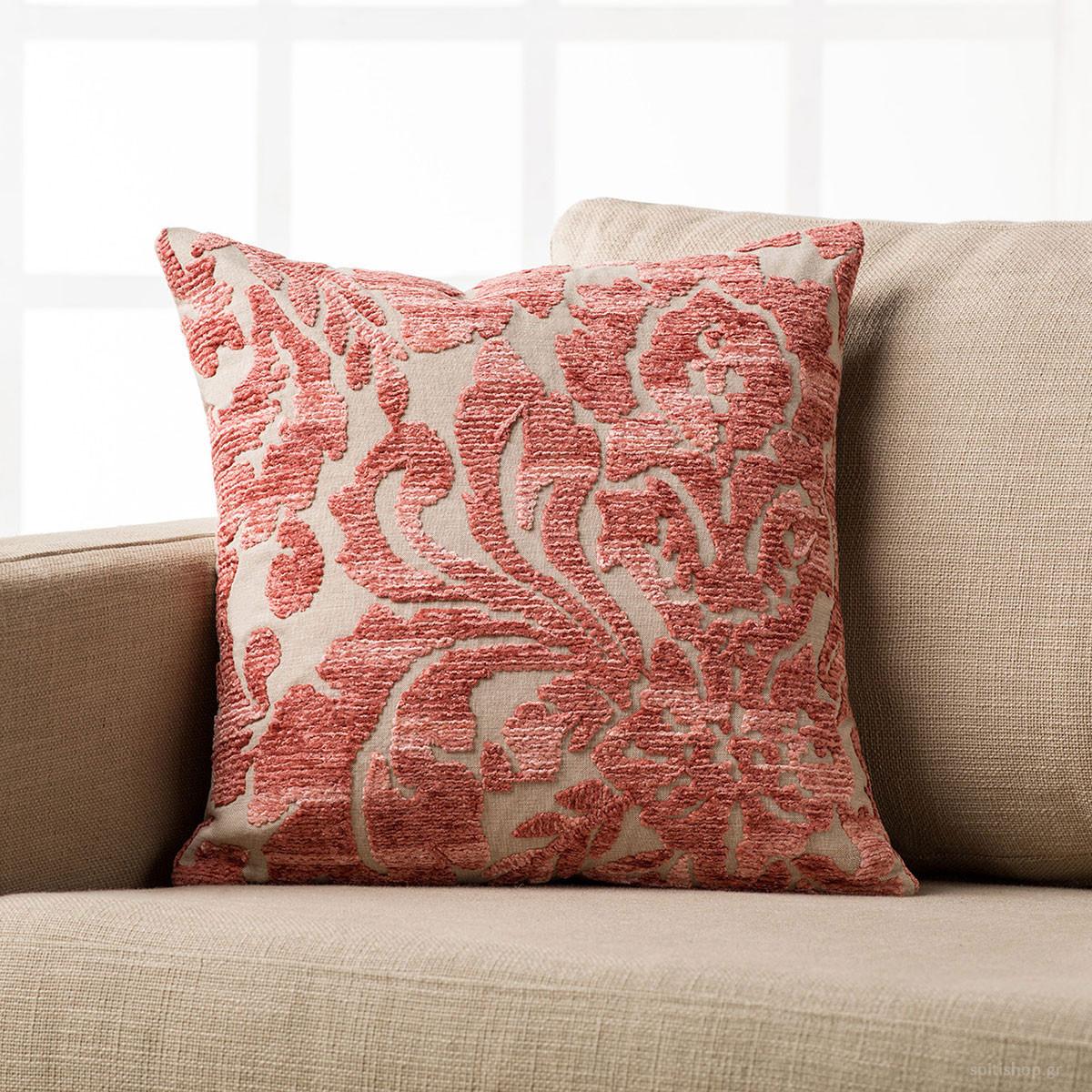 Διακοσμητική Μαξιλαροθήκη Gofis Home Palm Pink 621/17