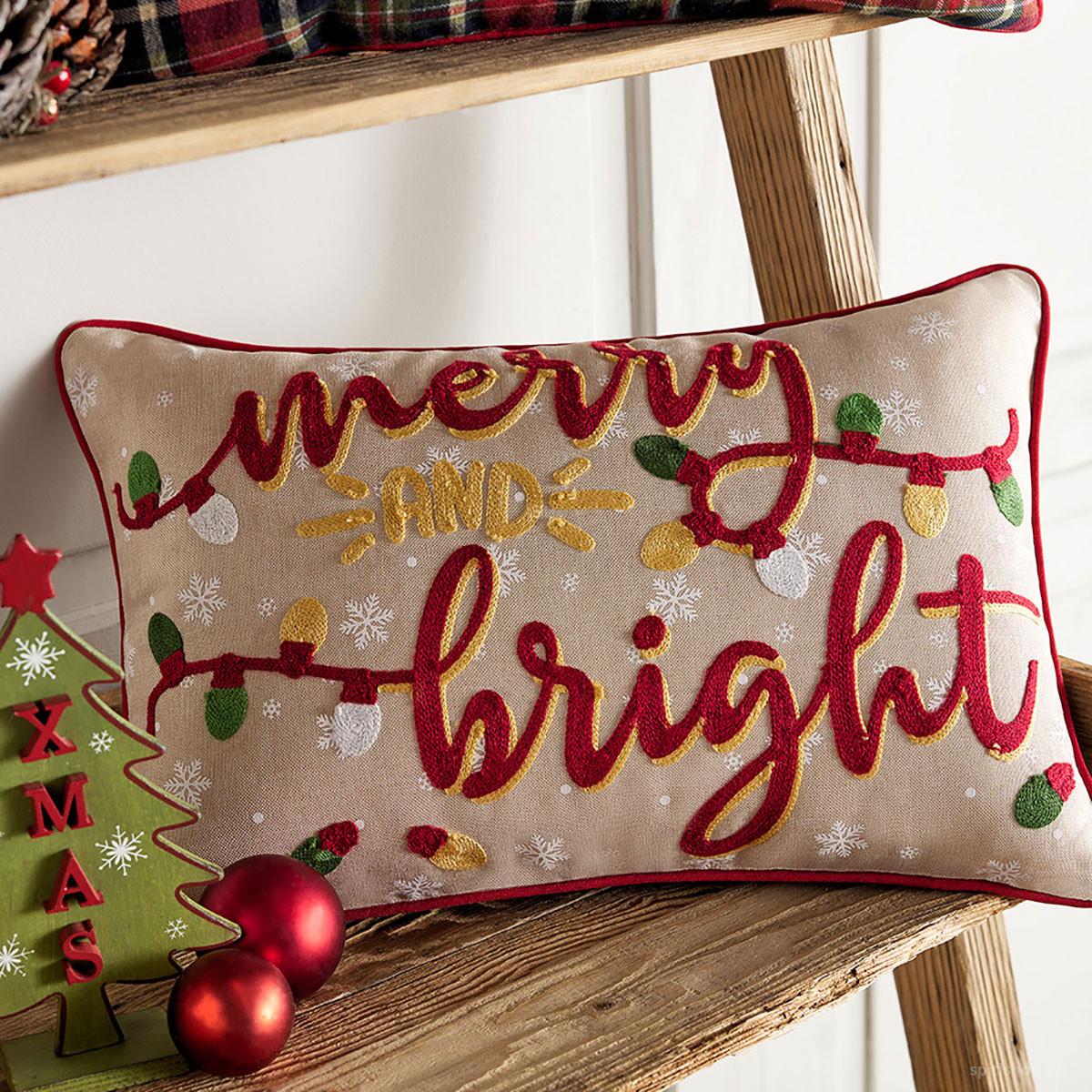 Χριστουγεννιάτικη Μαξιλαροθήκη Gofis Home Bright 743