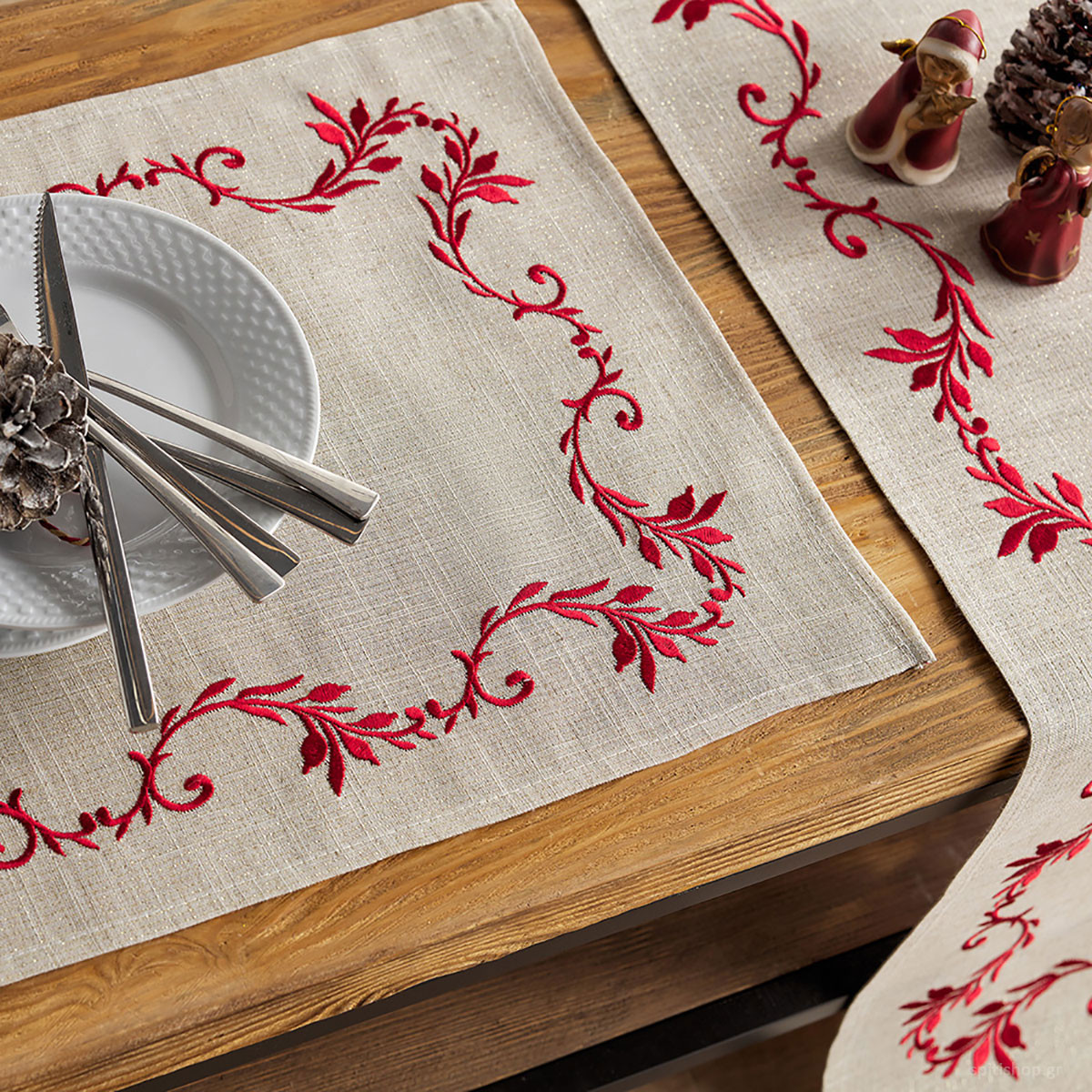Χριστουγεννιάτικα Σουπλά (Σετ 2τμχ) Gofis Home 775