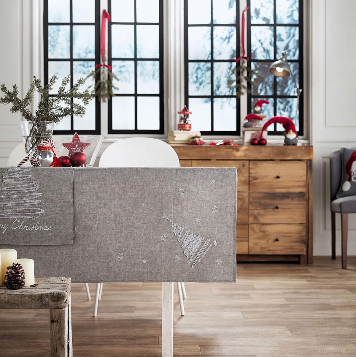 Χριστουγεννιάτικο Τραπεζομάντηλο (135×135) Gofis Home 231/15