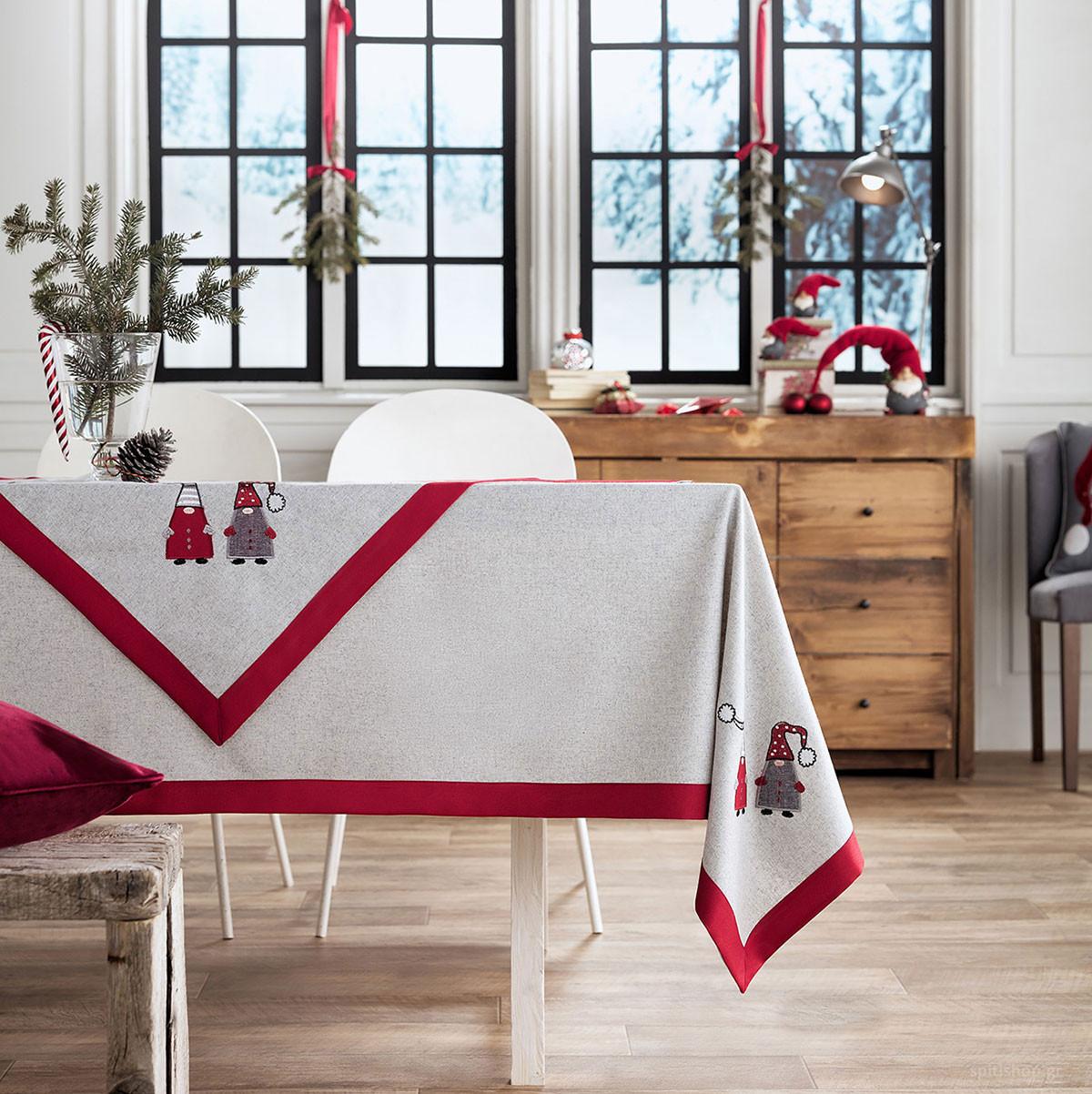 Χριστουγεννιάτικο Τραπεζομάντηλο (135×135) Gofis 833