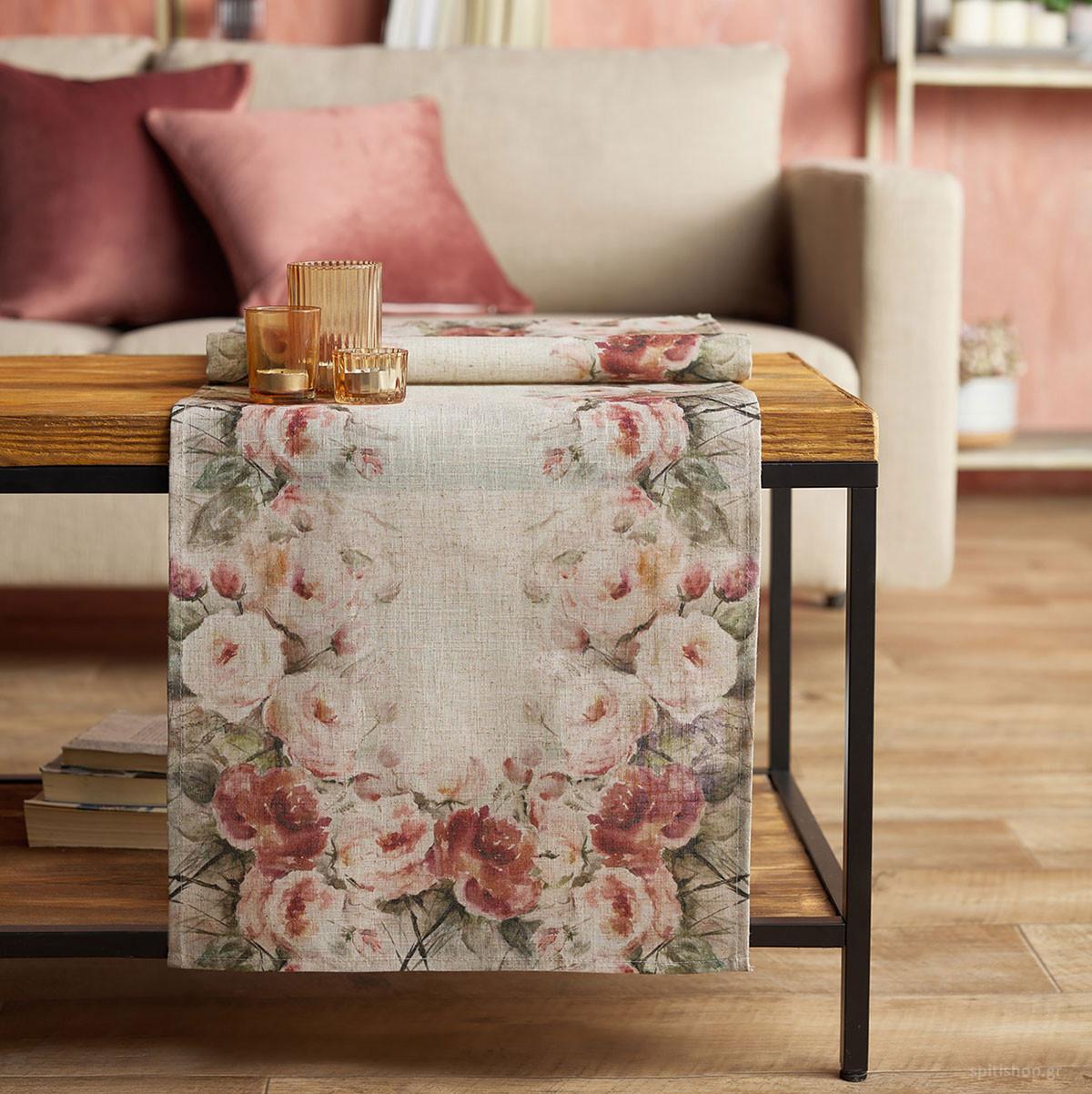 Τραβέρσα (45x150) Gofis Home Country Bloom 105 home   κουζίνα   τραπεζαρία   τραβέρσες