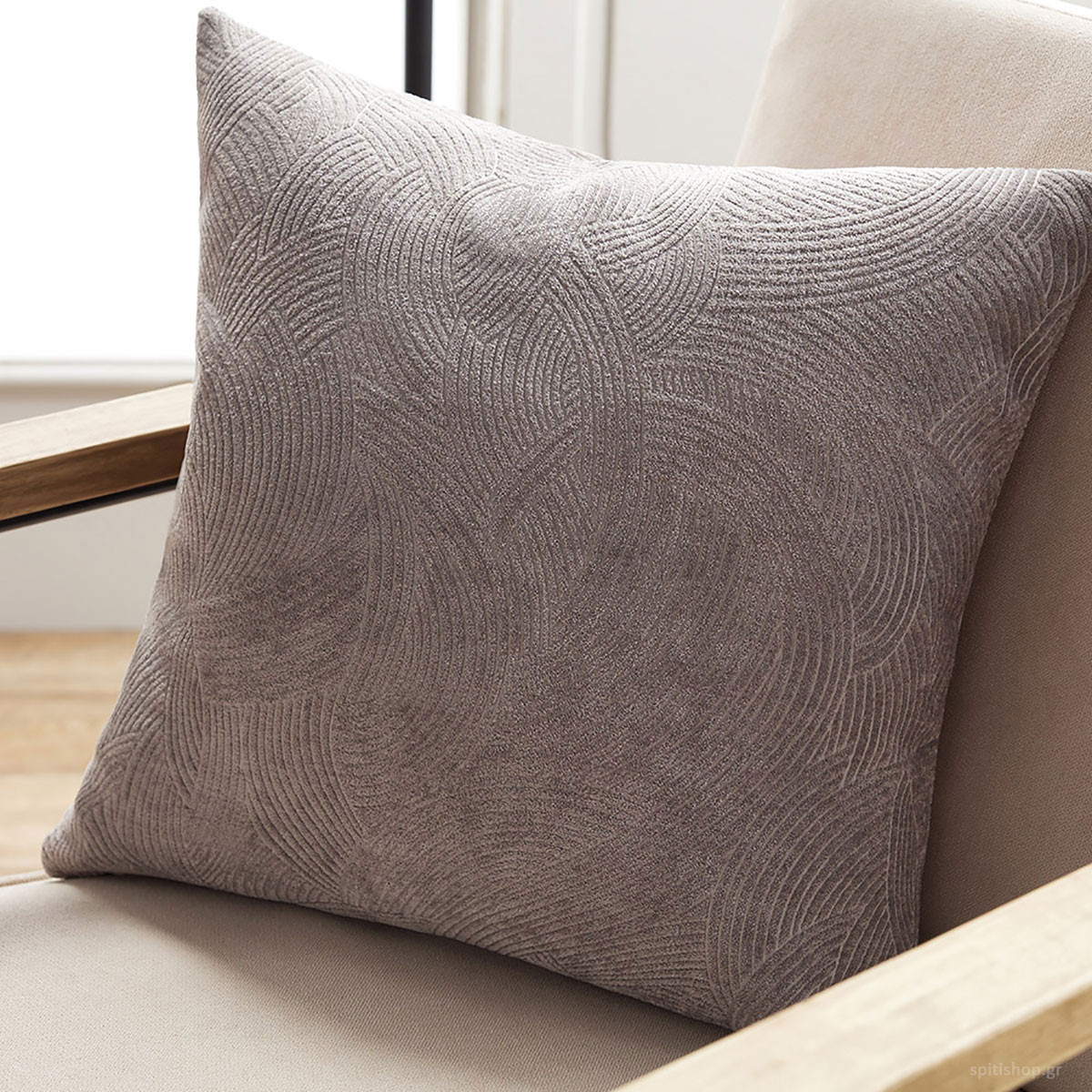 Διακοσμητική Μαξιλαροθήκη Gofis Home Nimbus Grey 447/15