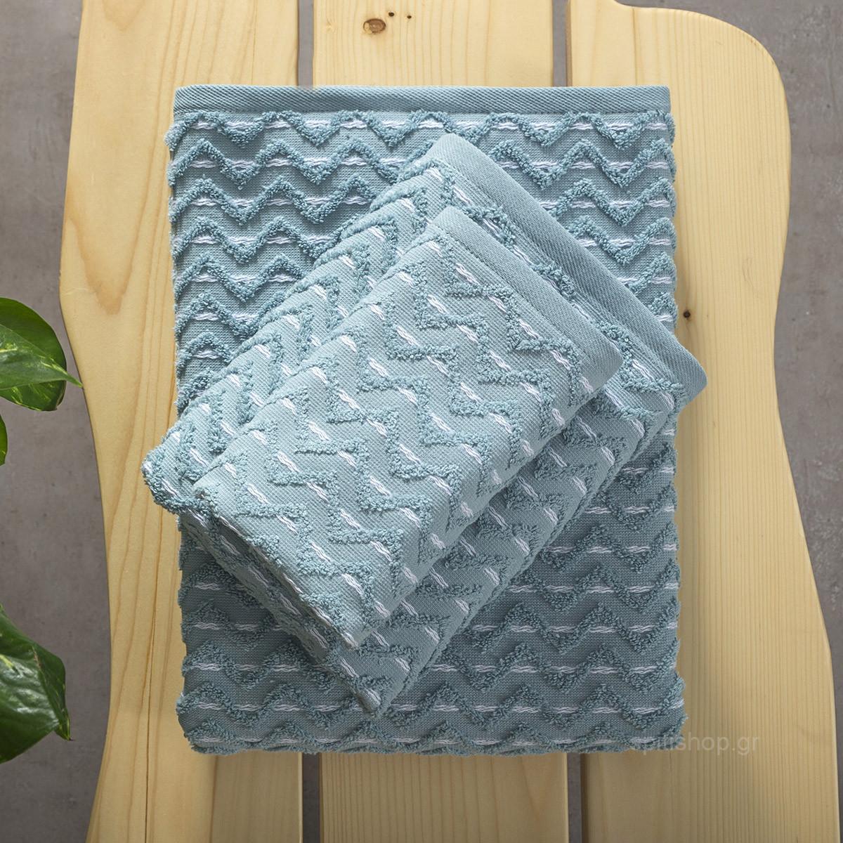 Πετσέτες Μπάνιου (Σετ 3τμχ) Nima Towels Vestige Blue