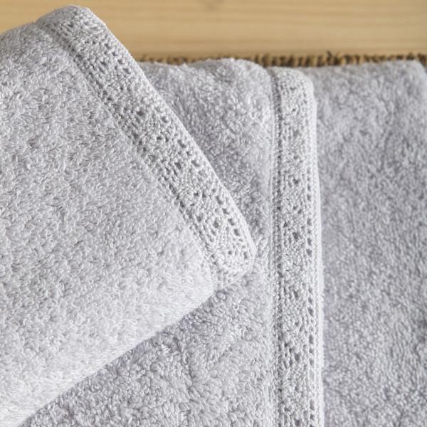 Πετσέτα Προσώπου (50x90) Nima Towels Cantata Light Grey