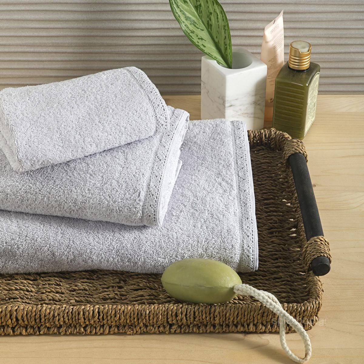 Πετσέτα Σώματος (70x140) Nima Towels Cantata Light Grey