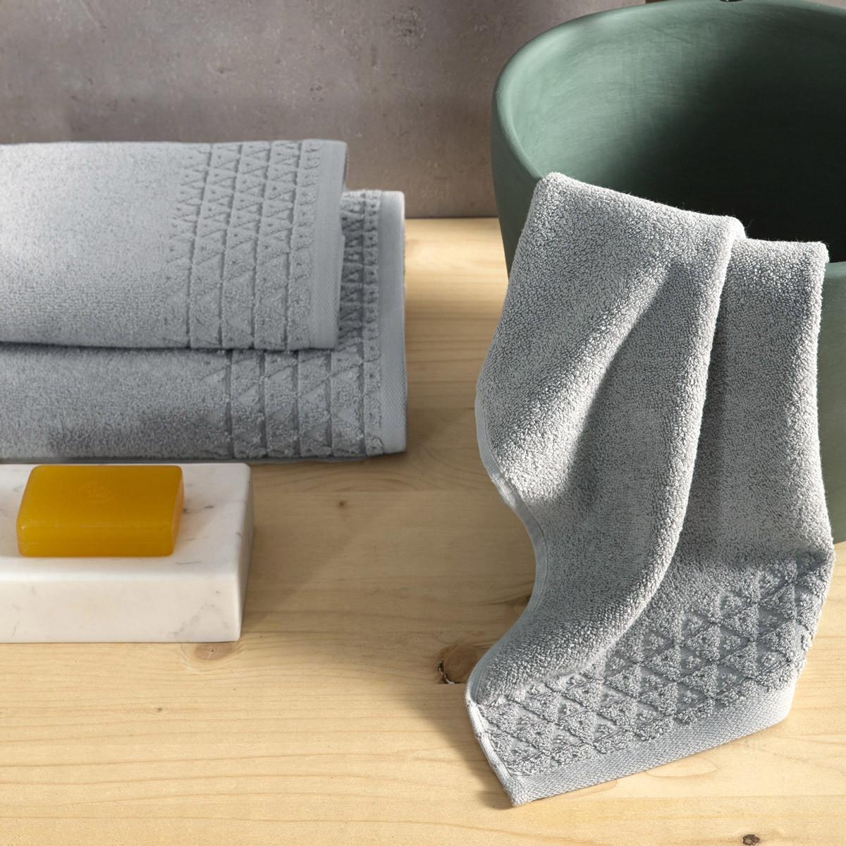 Πετσέτες Μπάνιου (Σετ 3τμχ) Nima Towels Dome Grey