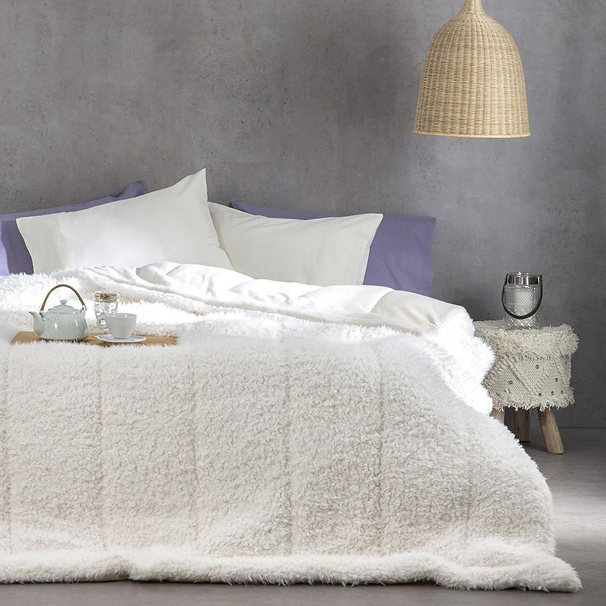 Κουβερτοπάπλωμα Υπέρδιπλο Nima Layers Smooth Ivory home   κρεβατοκάμαρα   παπλώματα   κουβερτοπαπλώματα