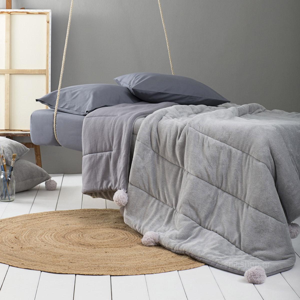 Κουβερτοπάπλωμα Υπέρδιπλο Nima Layers Agile Grey home   κρεβατοκάμαρα   παπλώματα   κουβερτοπαπλώματα