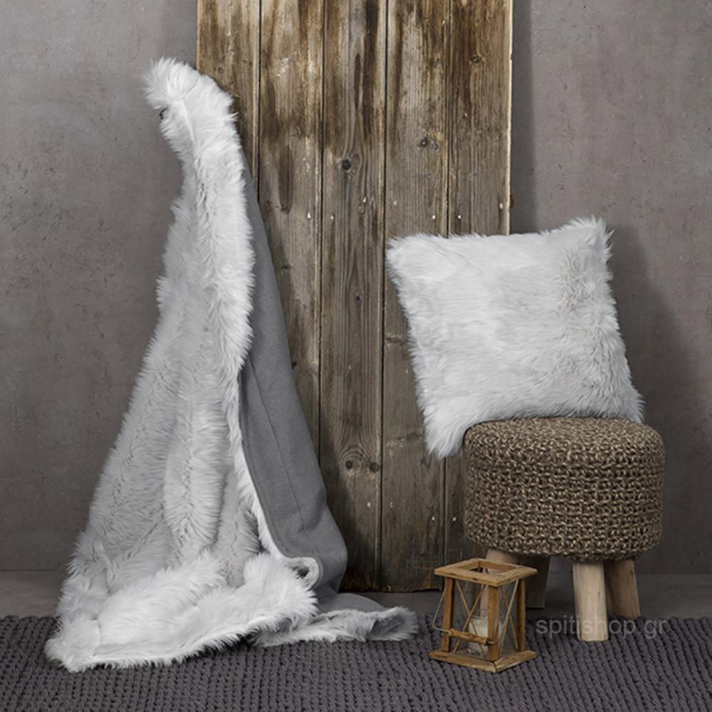Κουβέρτα Καναπέ Nima Throws Velvet Grey
