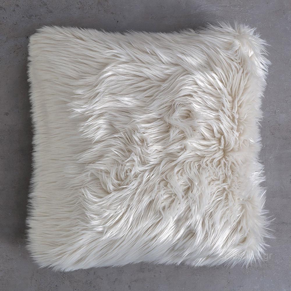 Διακοσμητικό Μαξιλάρι Nima Cushions Fluffy Taupe