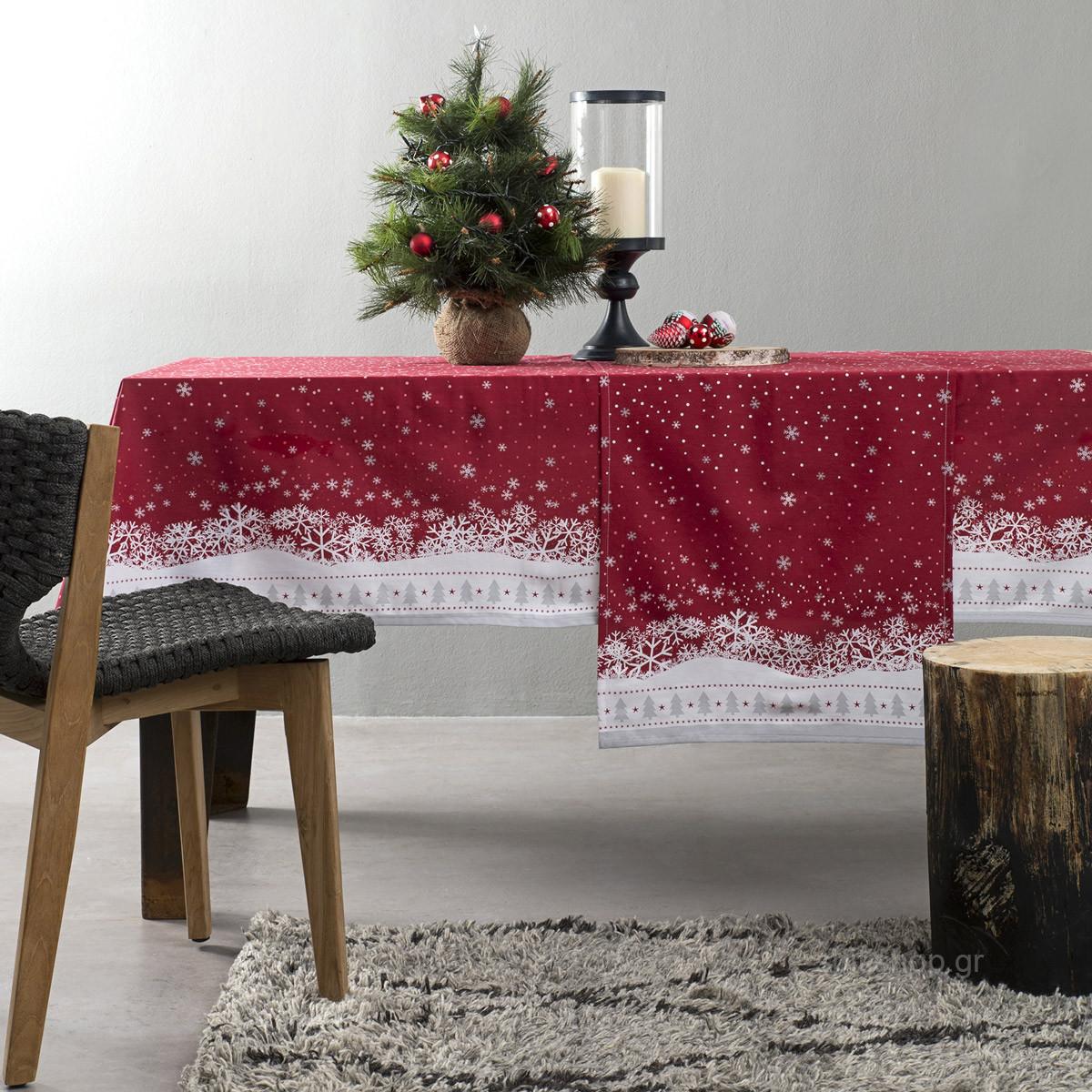 Χριστουγεννιάτικο Τραπεζομάντηλο (150×190) Nima Holly Day