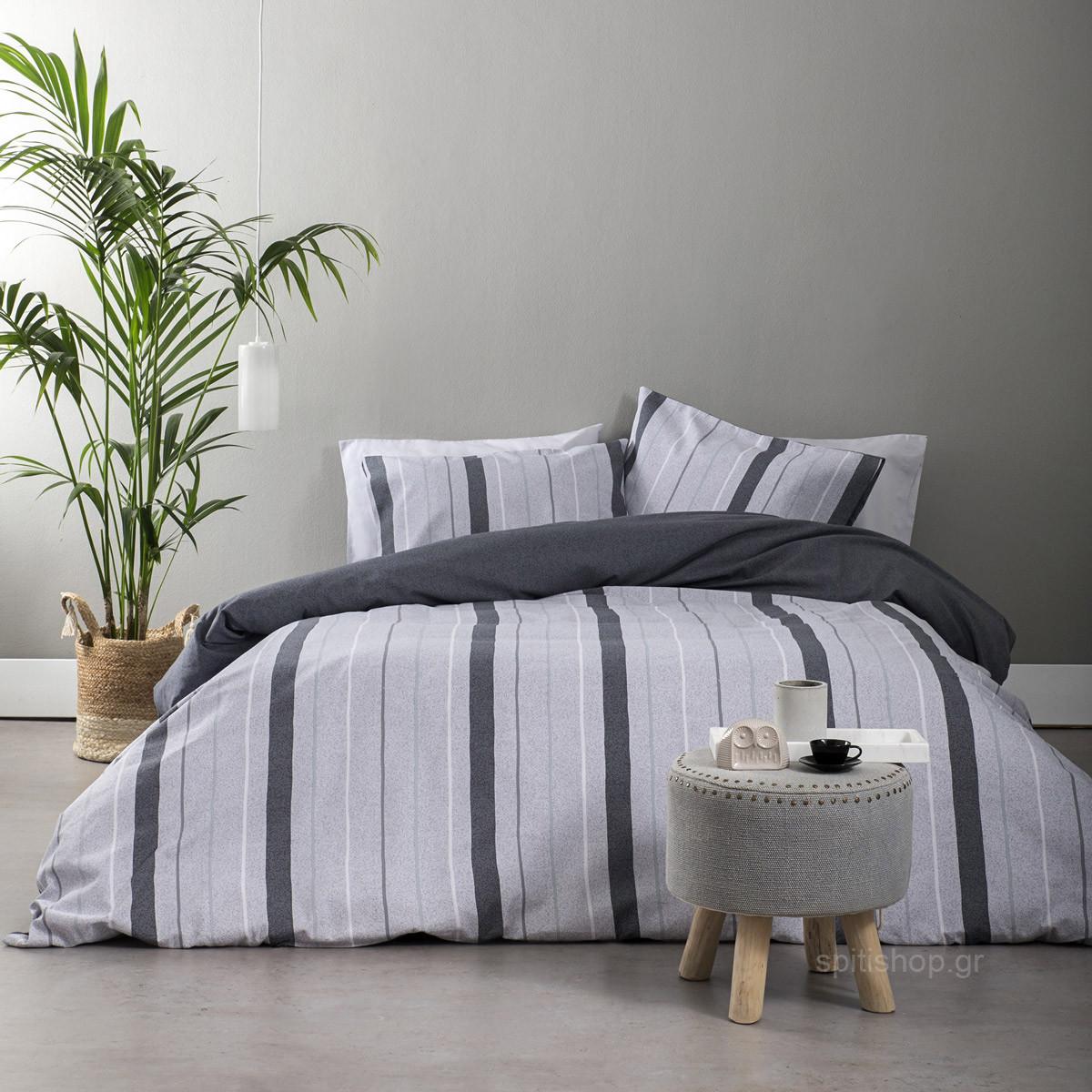 Φανελένια Παπλωματοθήκη Μονή (Σετ) Nima Bed Linen Simplicity