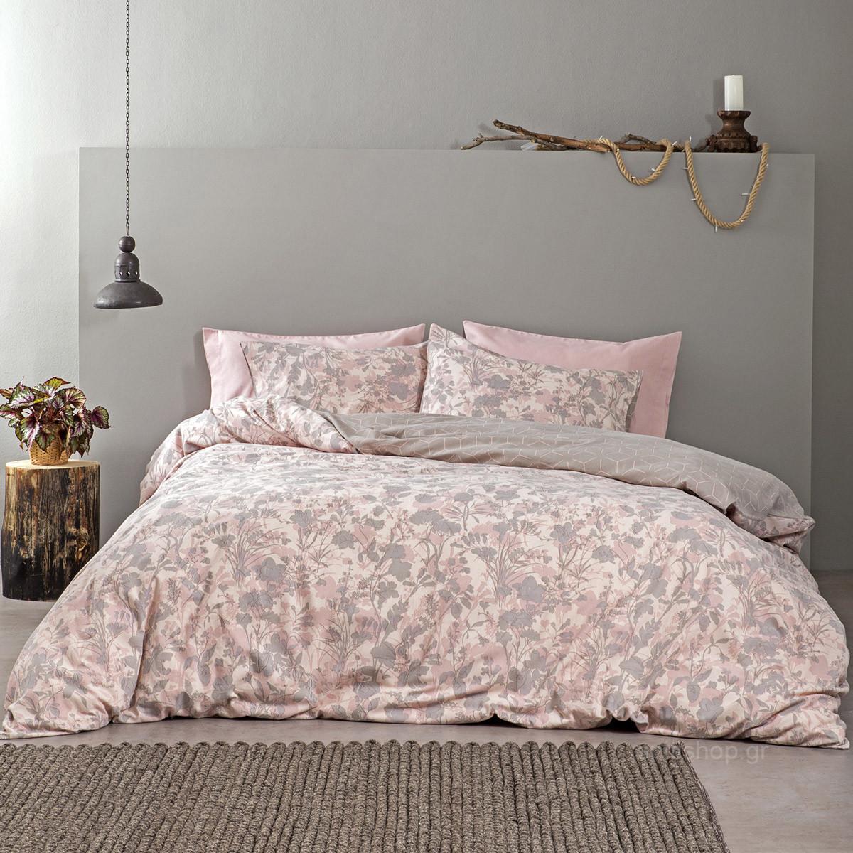 Φανελένια Σεντόνια King Size (Σετ) Nima Bed Linen Linden