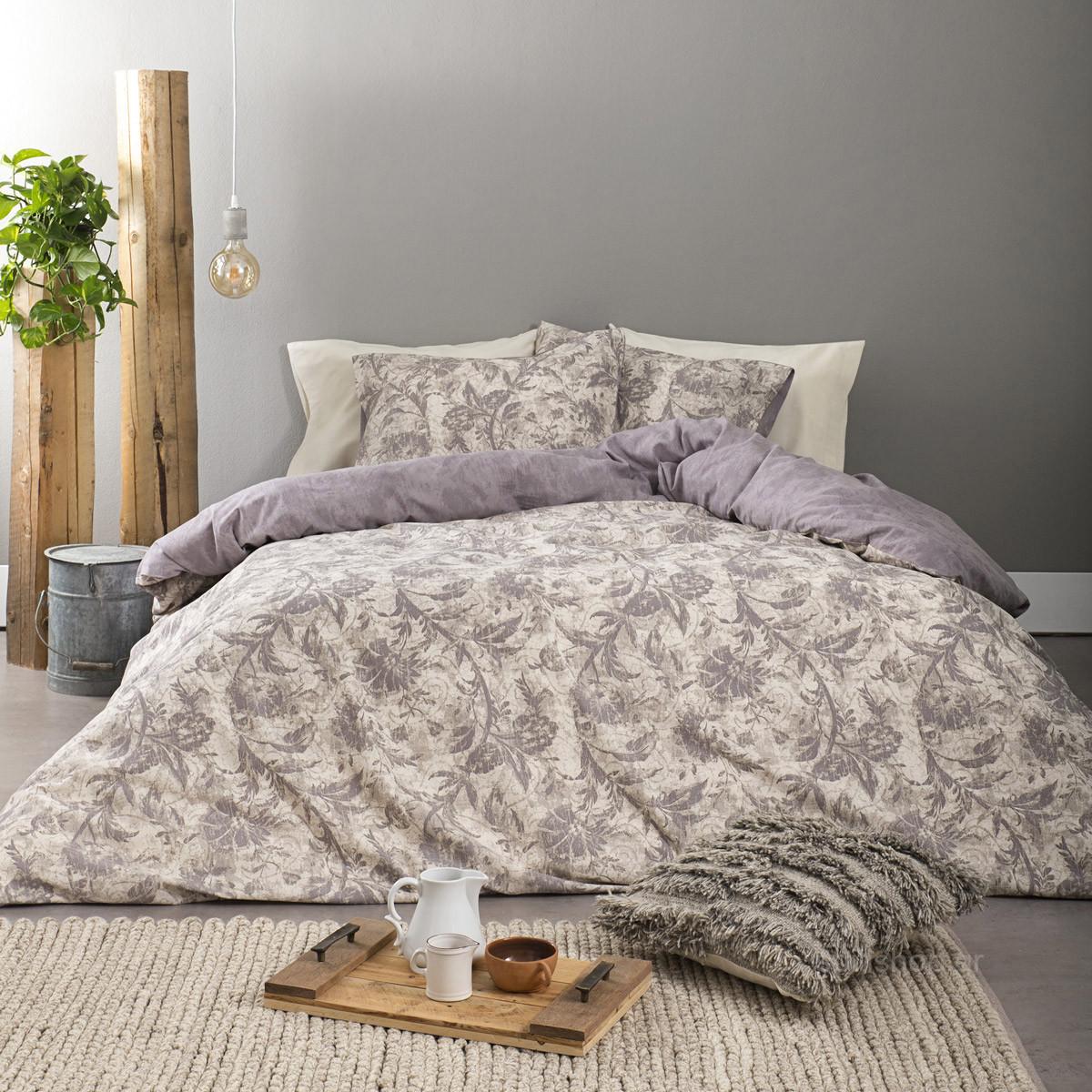 Φανελένια Σεντόνια King Size (Σετ) Nima Bed Linen Narkissos