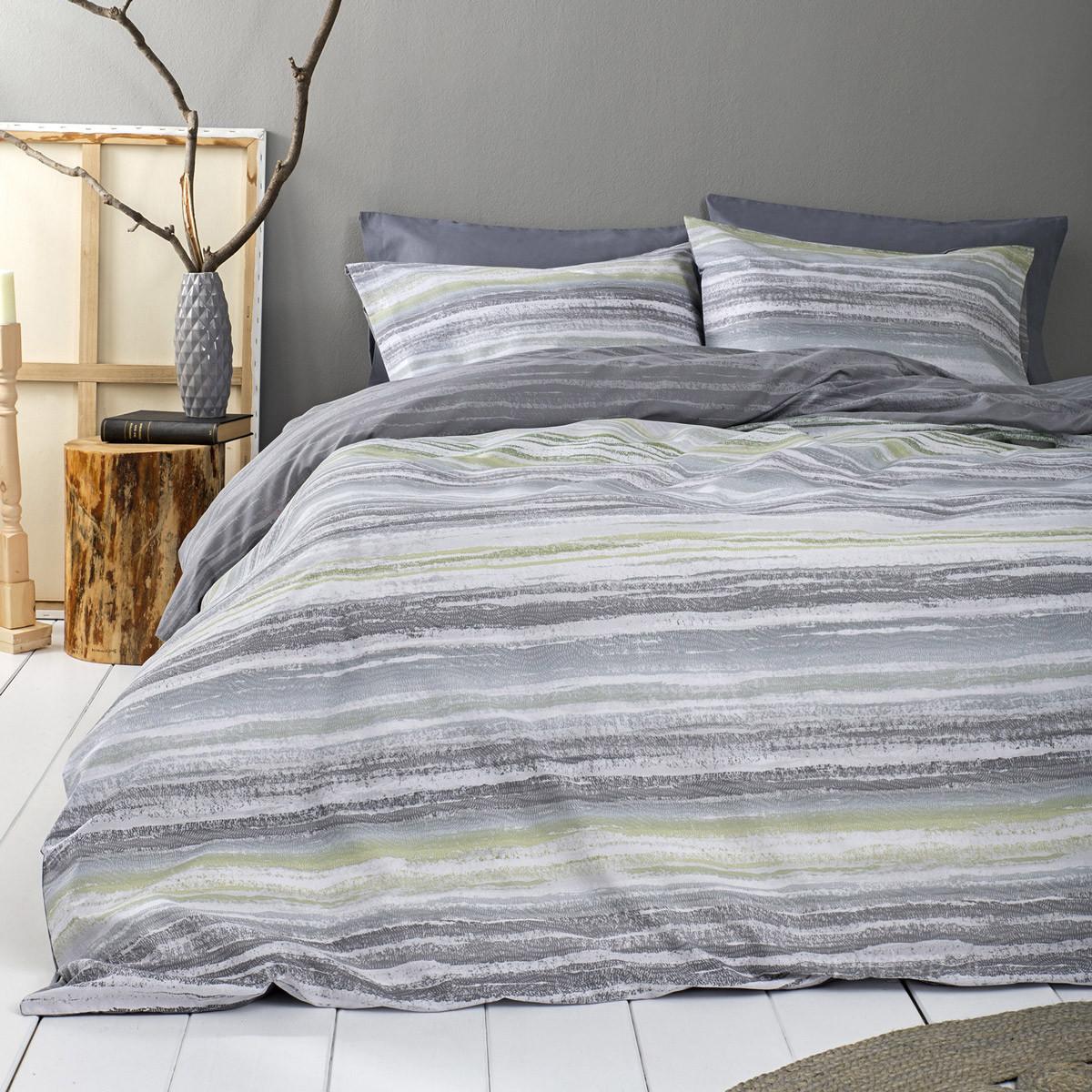 Παπλωματοθήκη Υπέρδιπλη (Σετ) Nima Bed Linen Softwood Green