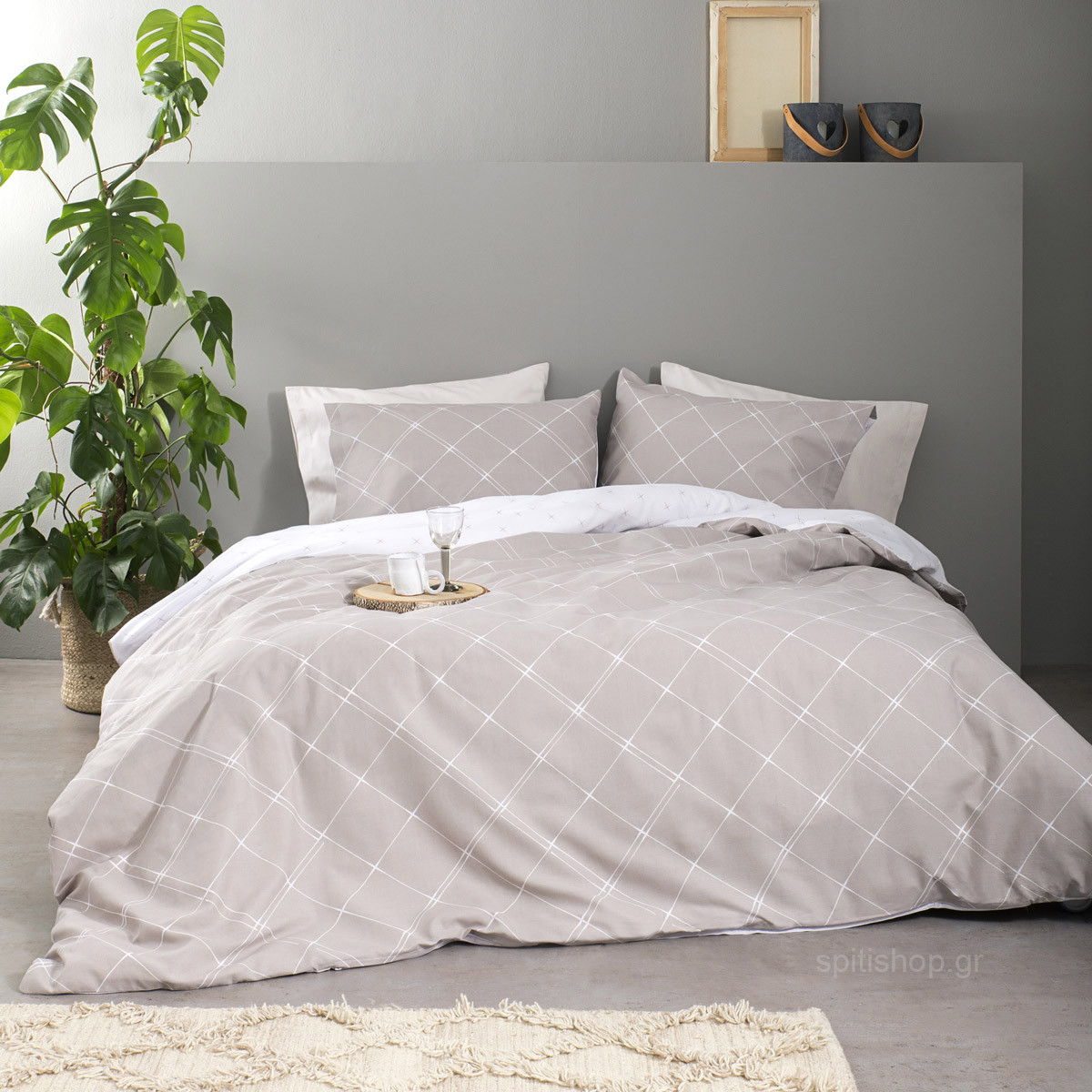 Σεντόνια King Size (Σετ) Nima Bed Linen Azzora Earth