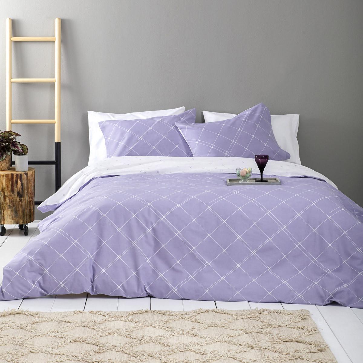 Παπλωματοθήκη Υπέρδιπλη (Σετ) Nima Bed Linen Azzora Lilac