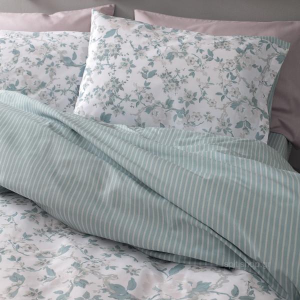 Σεντόνια Μονά (Σετ) Nima Bed Linen Jessamine Petrol