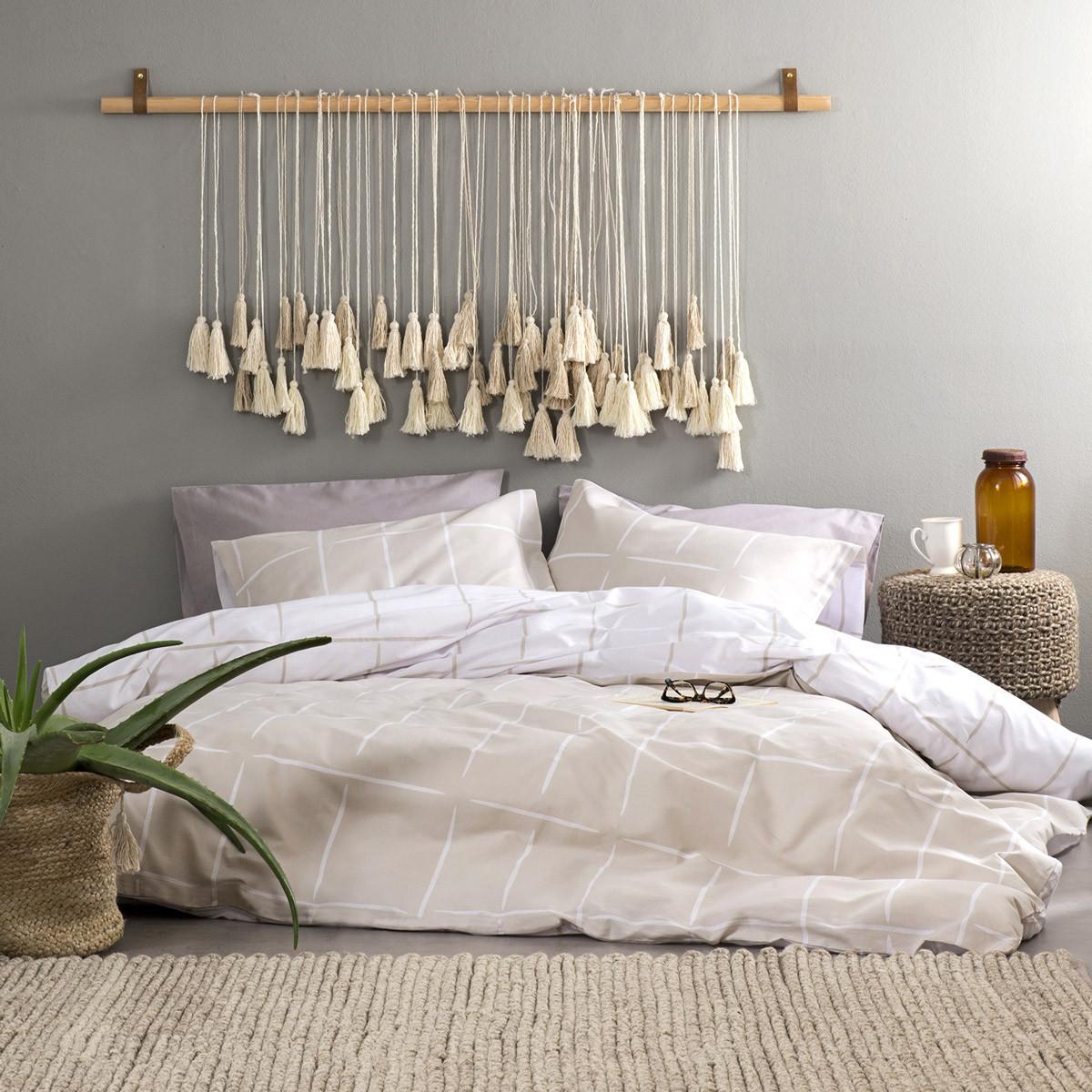 Σεντόνια King Size (Σετ) Nima Bed Linen Infinity Earth
