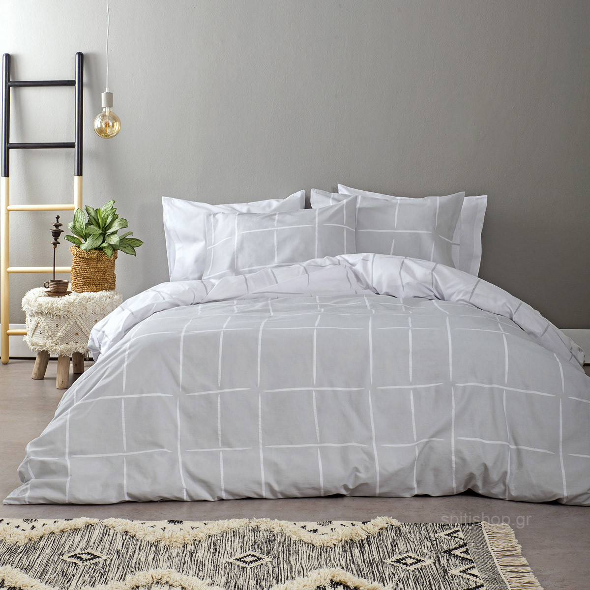 Σεντόνια King Size (Σετ) Nima Bed Linen Infinity Grey