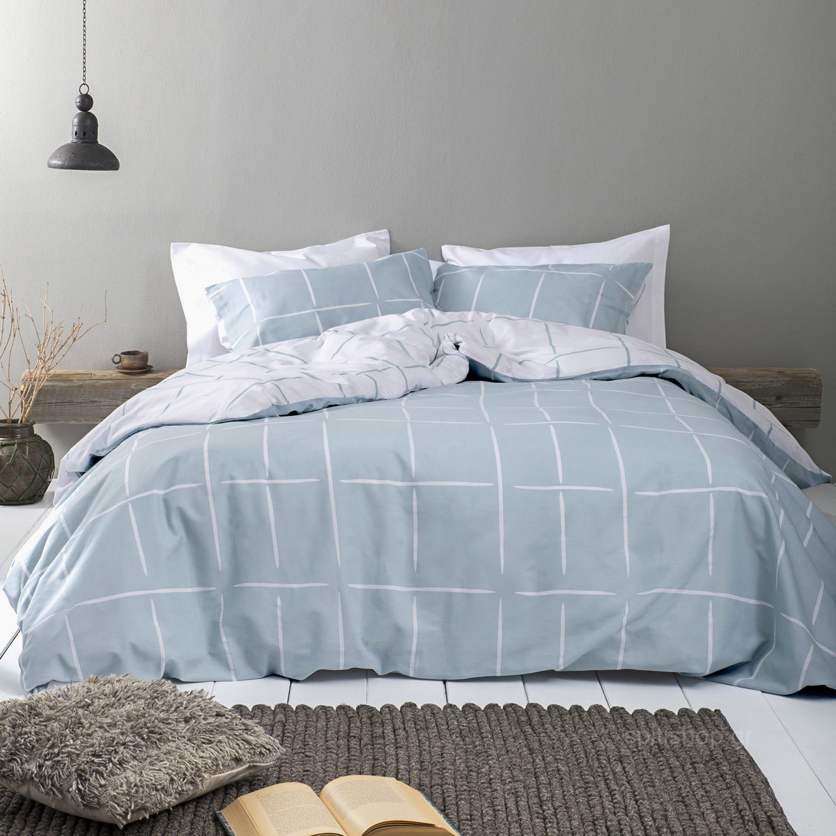 Σεντόνια Υπέρδιπλα (Σετ) Nima Bed Linen Infinity Petrol ΧΩΡΙΣ ΛΑΣΤΙΧΟ 240×260 ΧΩΡΙΣ ΛΑΣΤΙΧΟ 240×260