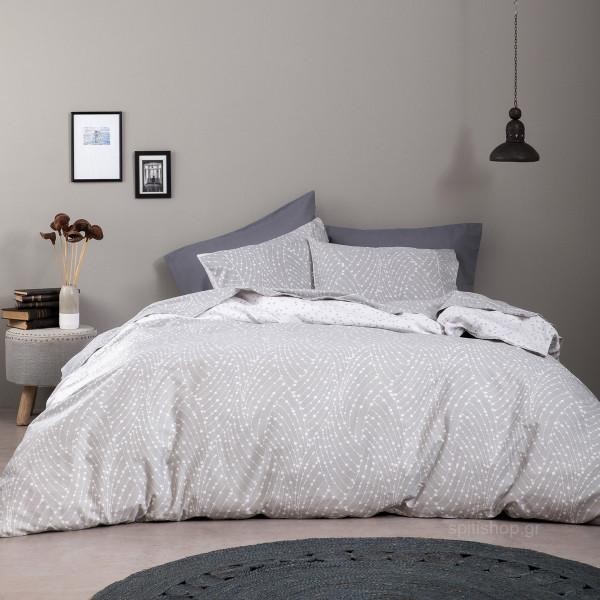 Σεντόνια Υπέρδιπλα (Σετ) Nima Bed Linen Allure Grey
