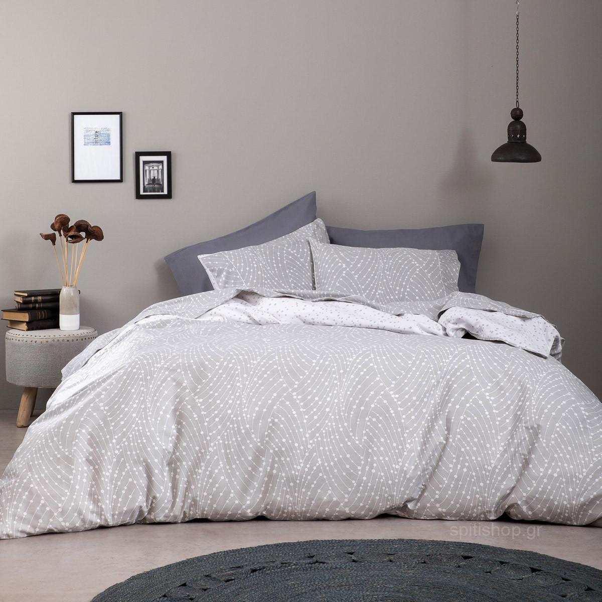 Παπλωματοθήκη Υπέρδιπλη (Σετ) Nima Bed Linen Allure Grey