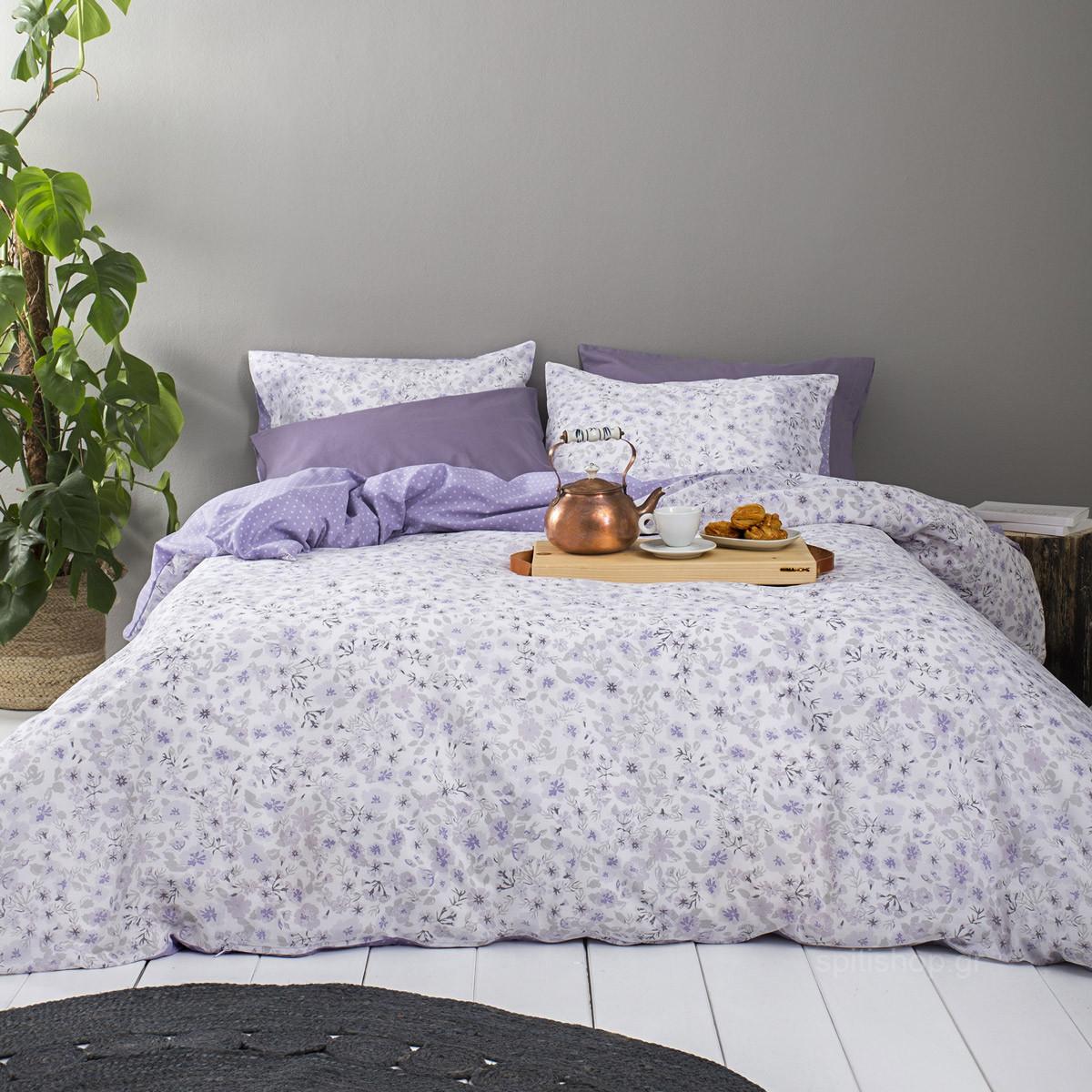 Σεντόνια Διπλά (Σετ) Nima Bed Linen Flowering home   κρεβατοκάμαρα   σεντόνια   σεντόνια ημίδιπλα   διπλά