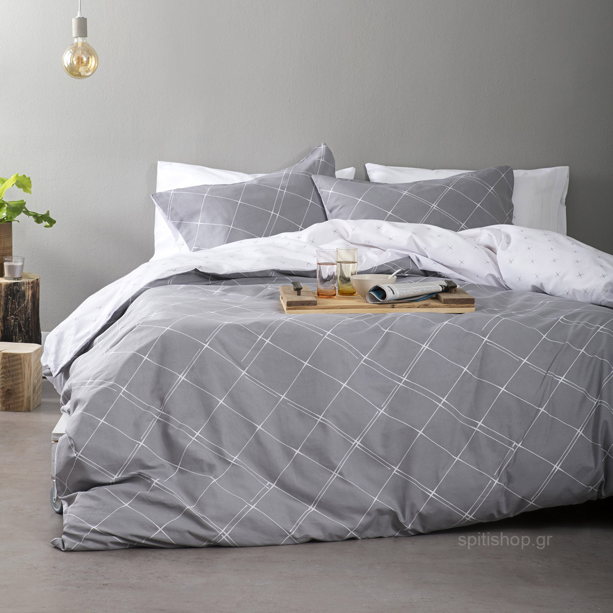 Σεντόνια King Size (Σετ) Nima Bed Linen Azzora Grey