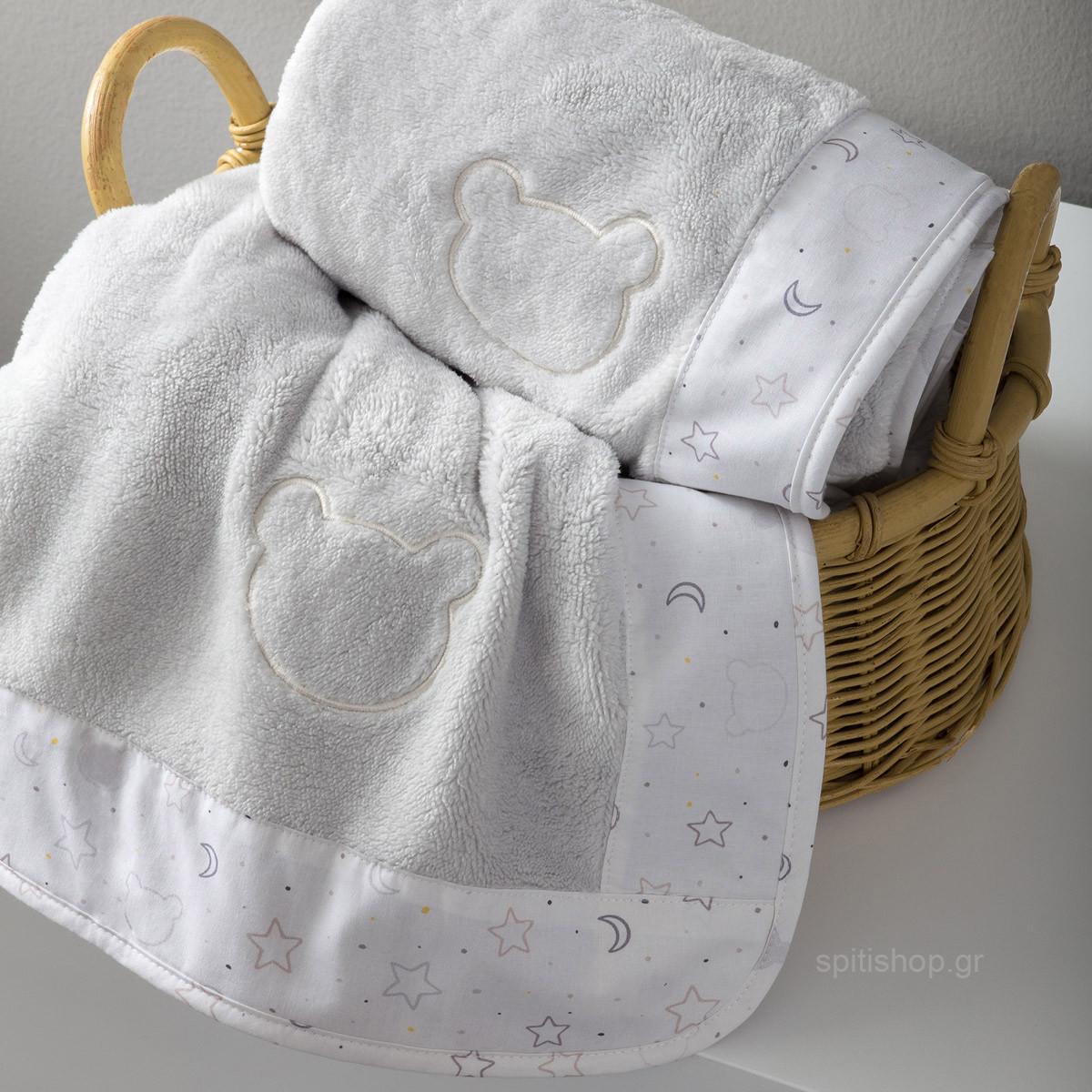 Κουβέρτα Fleece Κούνιας Nima Baby Goodnight Mommy