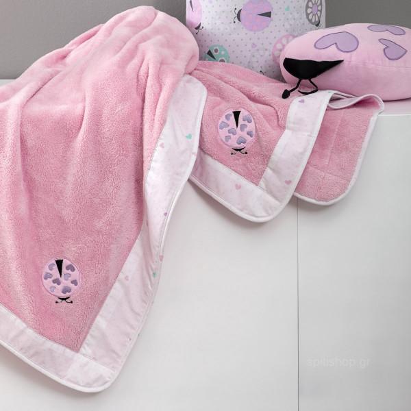 Κουβέρτα Fleece Αγκαλιάς Nima Baby Lovebug